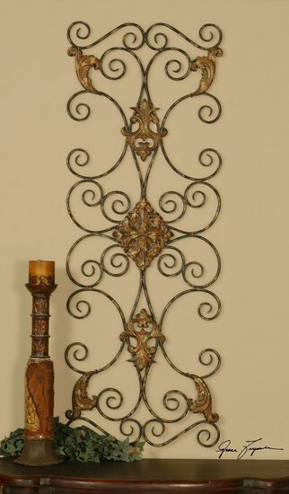 Hand-Forged Ornate Scroll Wall Art