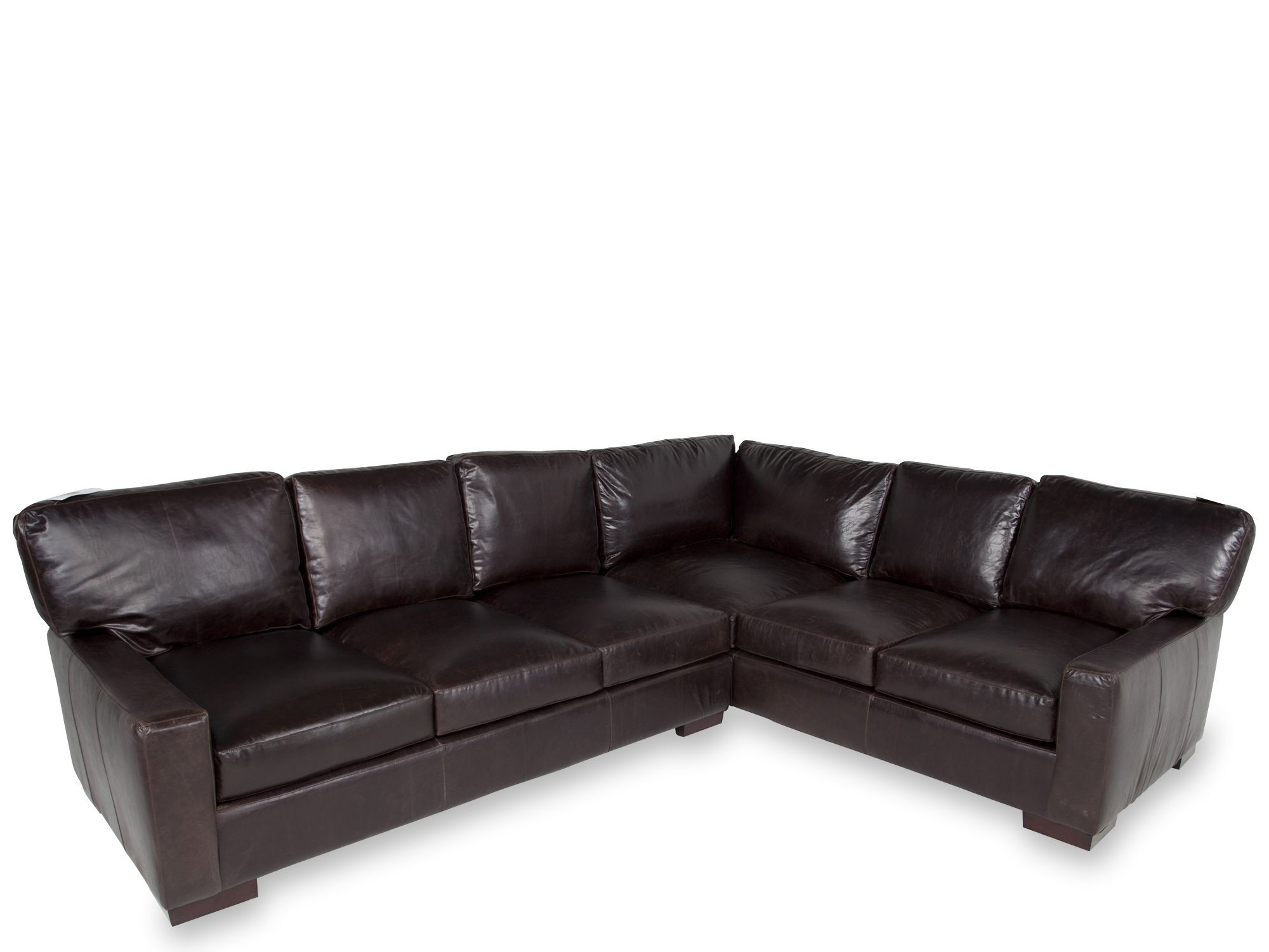 USA Leather Tobacco Two Piece Sectional