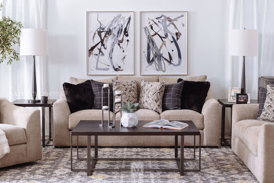 Casual Loveseat in Marble