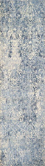 Transitional Power-Loomed 3 x 5 Rectangle Rug in Light Blue