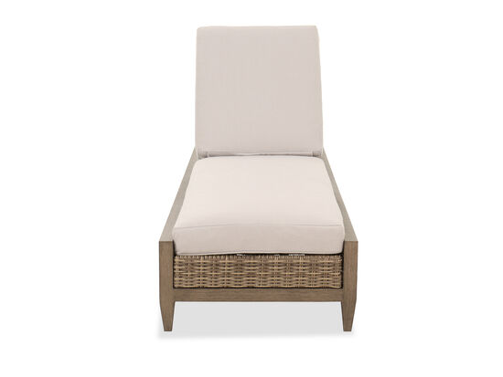 Traditional Patio Chaise in Beige