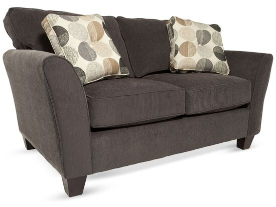 """Contemporary 64"""" Loveseat in Brown"""