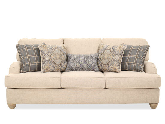 Casual 91'' Three-Seater Sofa in Linen