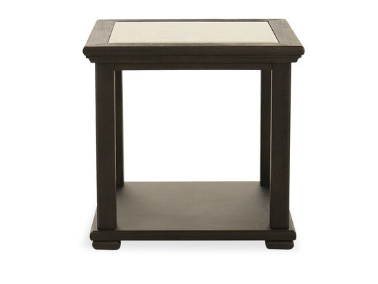 Casual Square End Table in Black