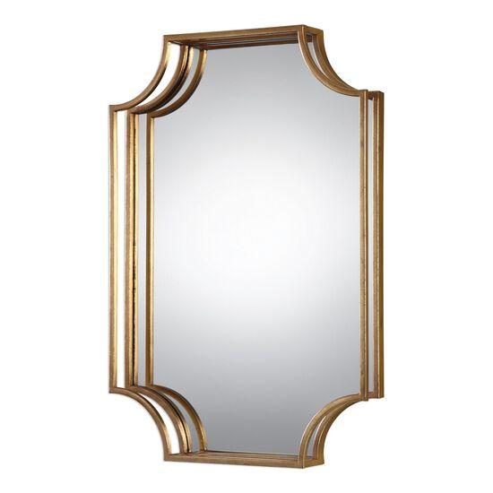 20'' Three-dimensional Frame Wall Mirrorin Antiqued Gold Leaf