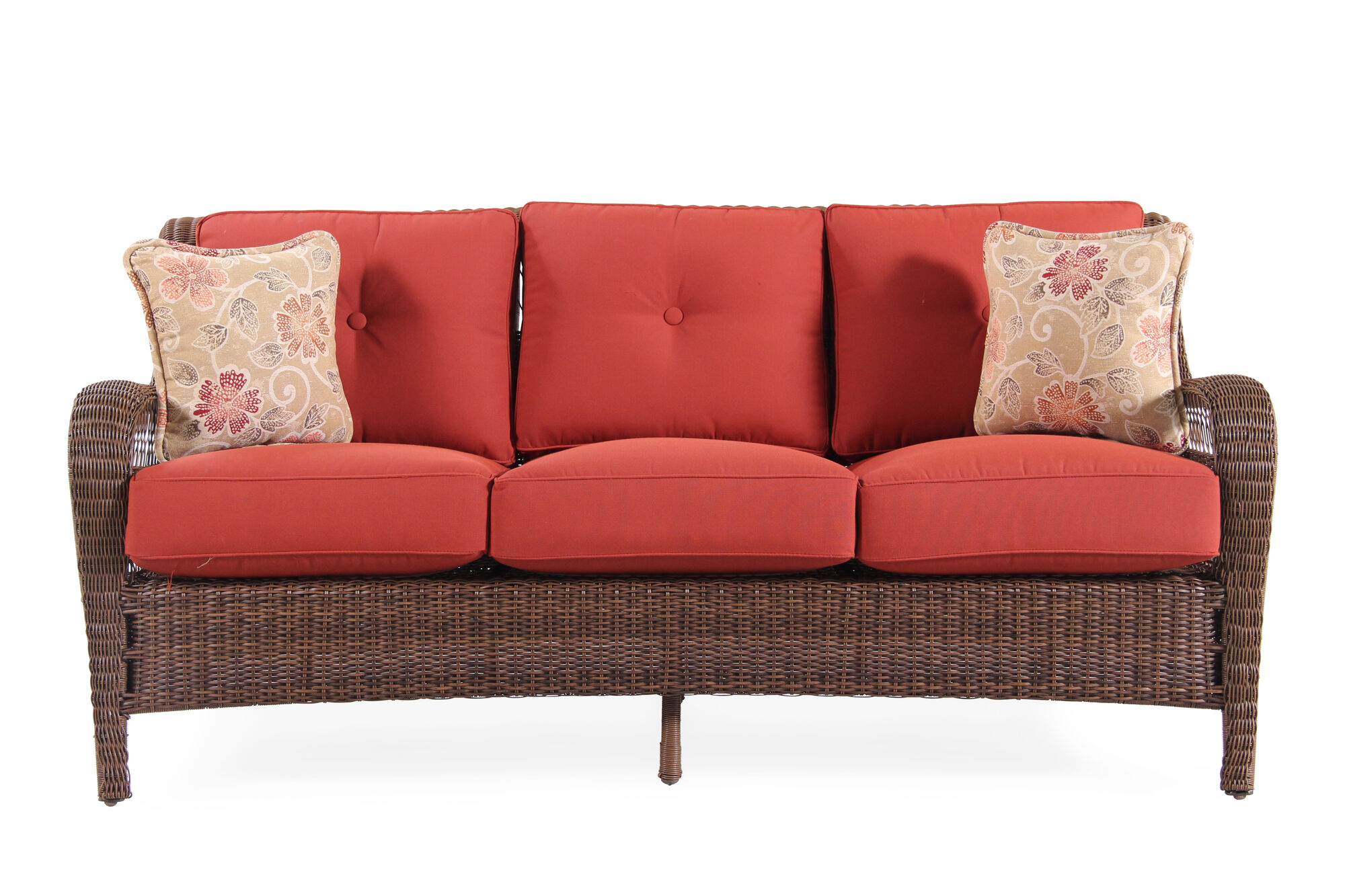 Water-Resistant Contemporary Sofa in Red | Mathis Brothers Furniture