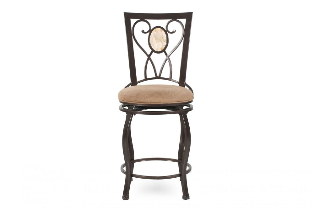 Traditional Bar Stool in Brown