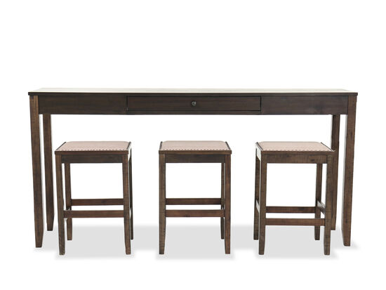 Four-Piece Counter Height Dining Set in Brown