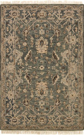 "Traditional 2'-3""x3'-9"" Rug in Slate/Slate"