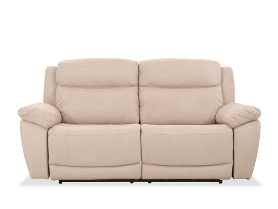 """Contemporary 83"""" Power Reclining Sofa in Beige"""
