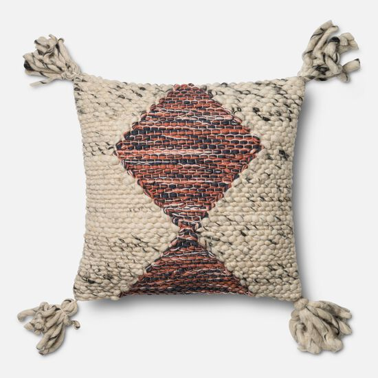 """Contemporary 18""""x18"""" Pillow Cover Only in Multi"""