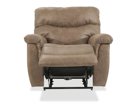 Pillow Top Arms Casual 42.5'' Power Recliner in Brown