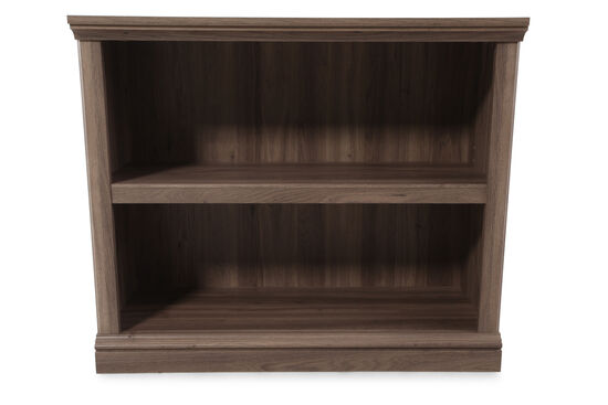 Contemporary Adjustable Shelf Open Bookcase in Brown