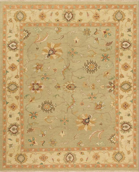 "Transitional 2'-0""x3'-0"" Rug in Sage/Gravel"