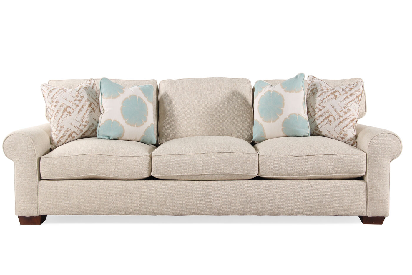 "Transitional Low Profile 103"" Sofa in Cream Mathis Brothers Furniture"