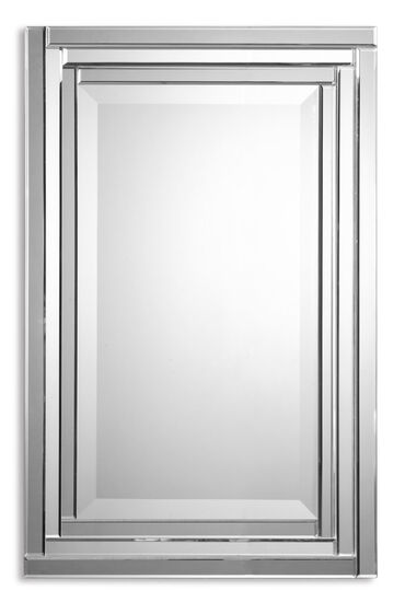 "34"" Stepped Frameless Polished Vanity Mirror"