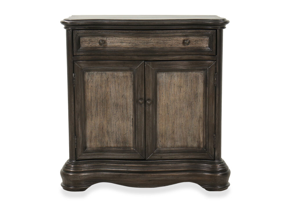 One-Drawer Traditional Hall Chest in Brown