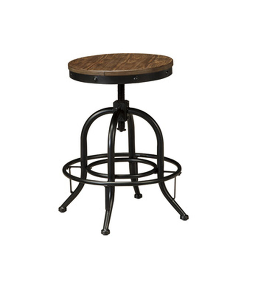 "Casual 24"" Adjustable Swivel Bar Stool in Black"