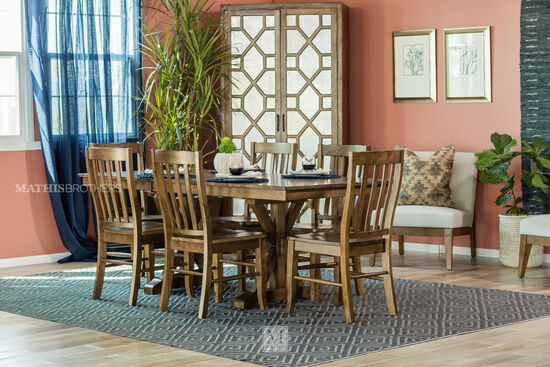 """Traditional 78"""" to 96"""" X-Base Trestle Table in Caramel Brown"""