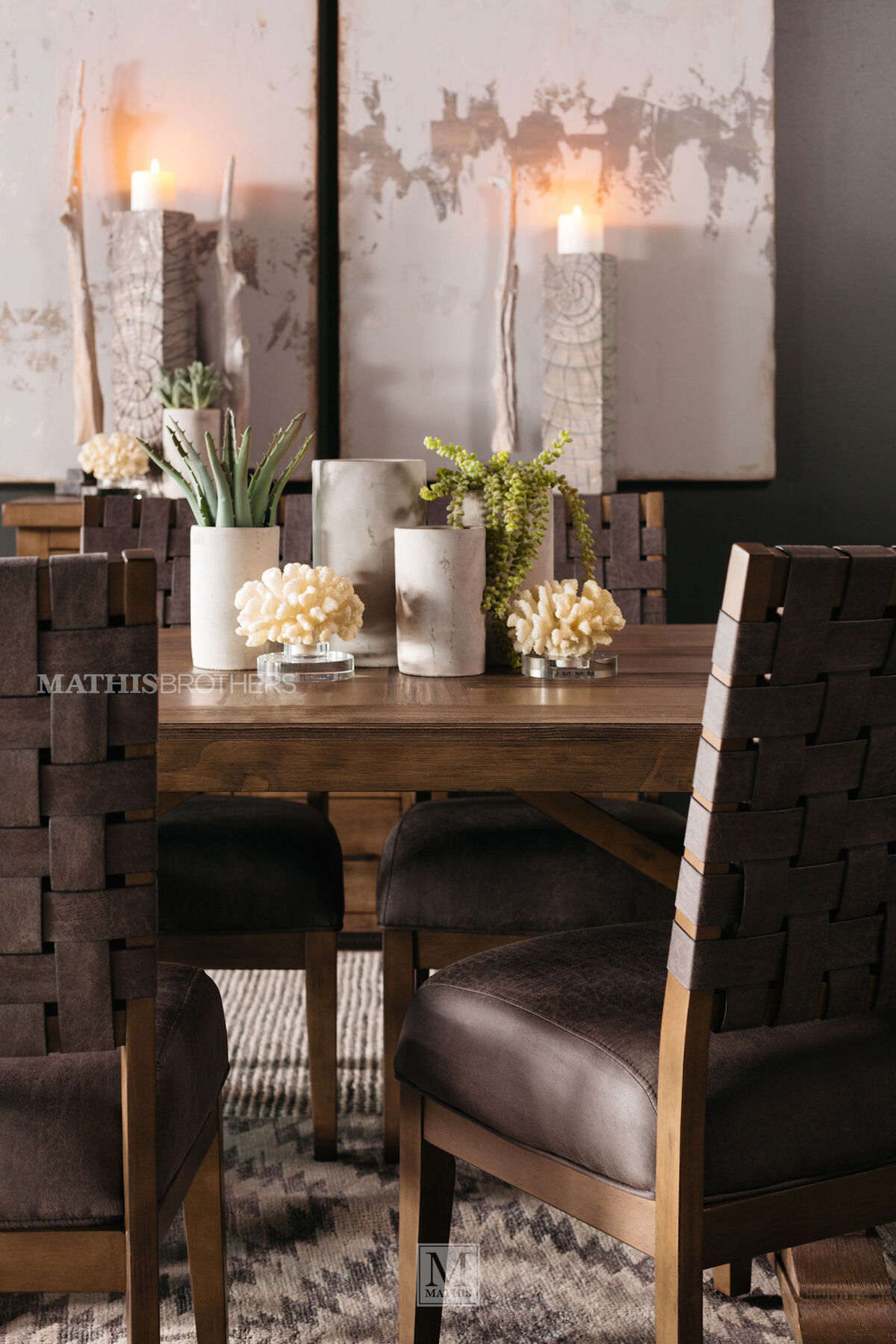 ... Seven Piece Dining Set In Brown ...