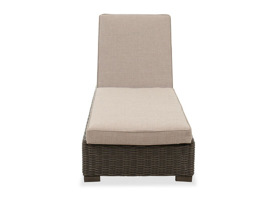 Contemporary Patio Chaise Lounge in Brown