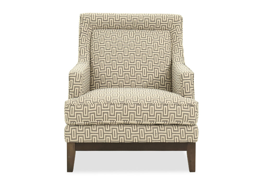 """Geometric Patterned Casual 31"""" Accent Chair"""