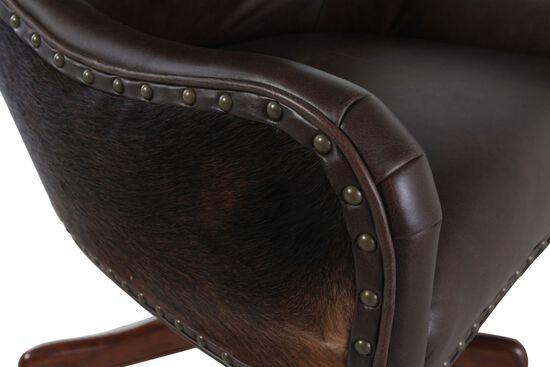 Leather Executive Swivel Tilt Chairin Dark Brown