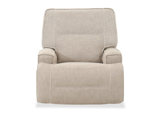 Casual Power Glider Recliner in Oatmeal