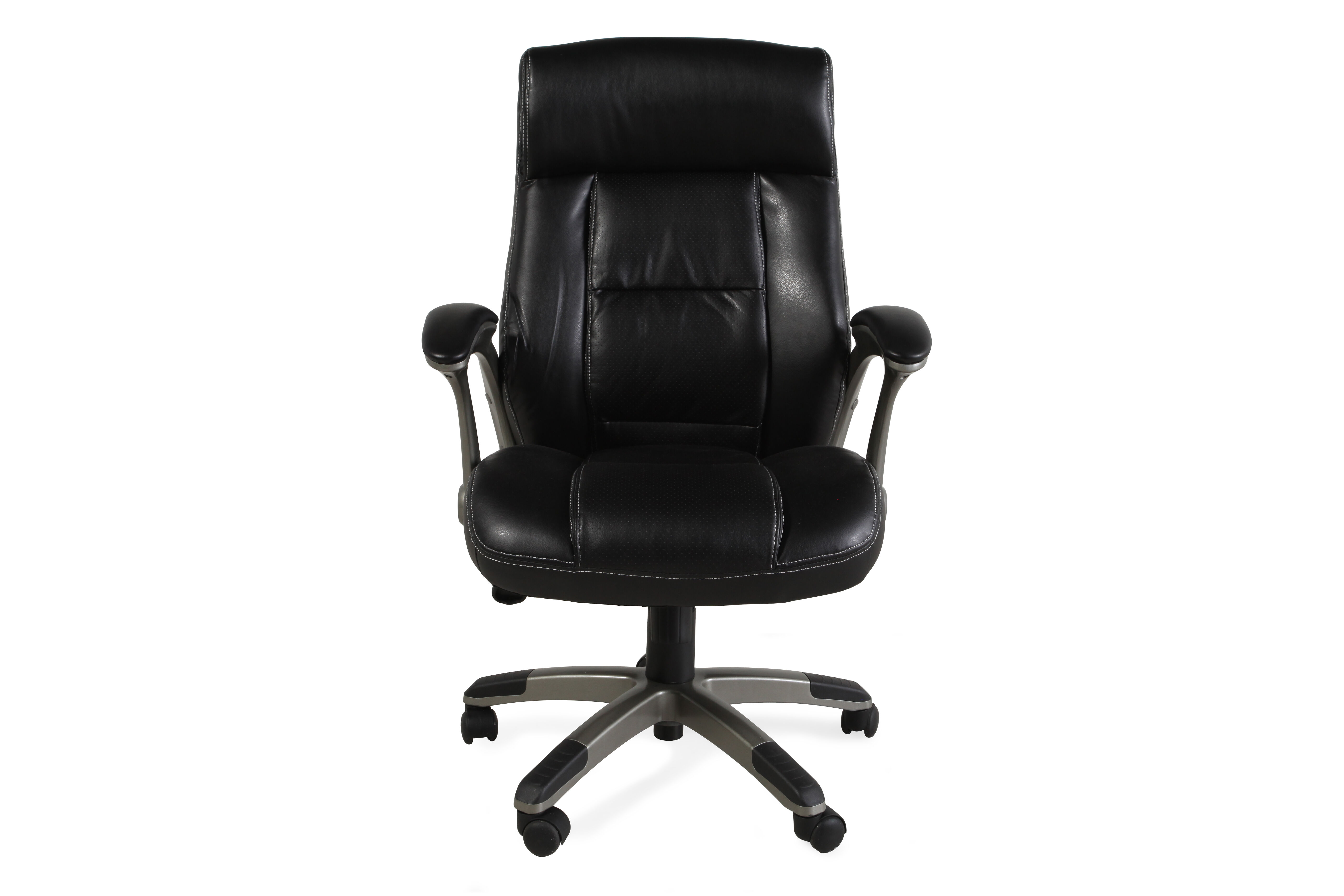 Pleated Leather Swivel Tilt Office Chairu0026nbsp ...  sc 1 st  Mathis Brothers & Home Office Chairs - Desk Chairs | Mathis Brothers