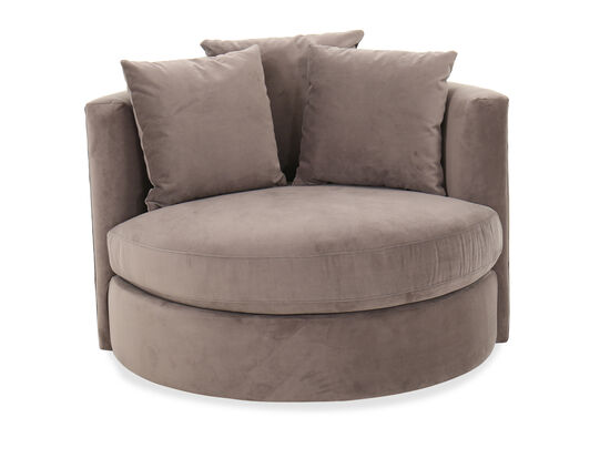 Contemporary 49'' Roundabout Swivel Chair in Vintage Gray