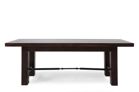 Planked Top 50'' Dining Bench in Dark Brown