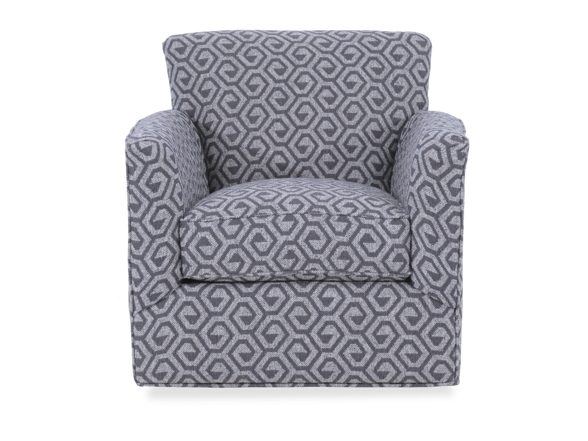 Images Geometric Patterned Contemporary 34u0026quot; Swivel Chair In Gray