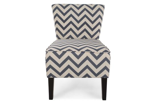 """Chevron Patterned Contemporary 22"""" Accent Chair"""