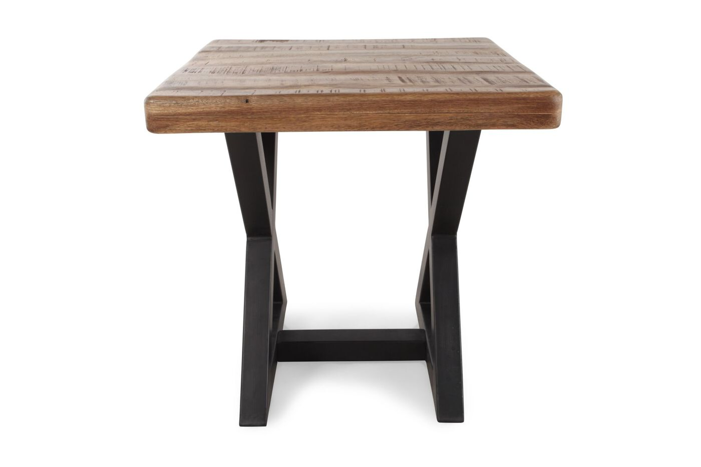 Square contemporary end table in natural wood mathis brothers square contemporary end tablenbspin natural wood watchthetrailerfo