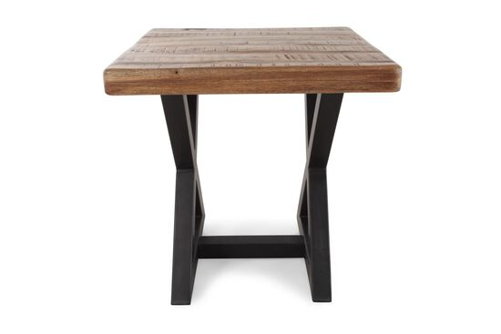 Square Contemporary End Table in Natural Wood