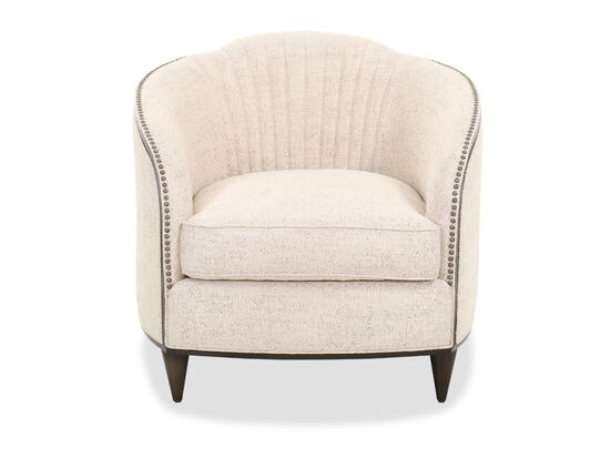 Contemporary Tufted 33'' Chair in Beige