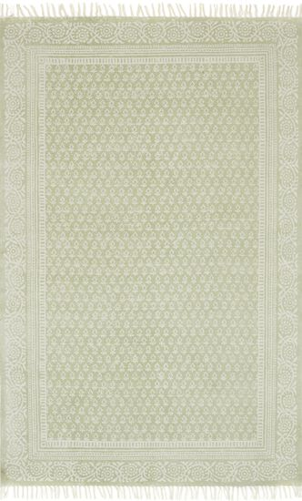 "Transitional 2'-3""x3'-9"" Rug in Sage"