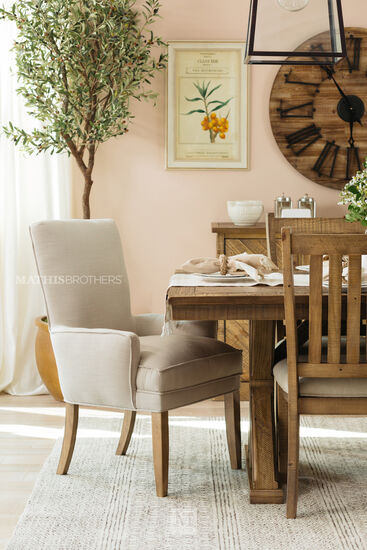 Casual 39'' Arm Chair in Beige