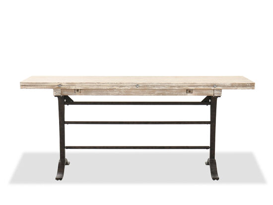 Casual Flip-Top Console Table in Light Brown