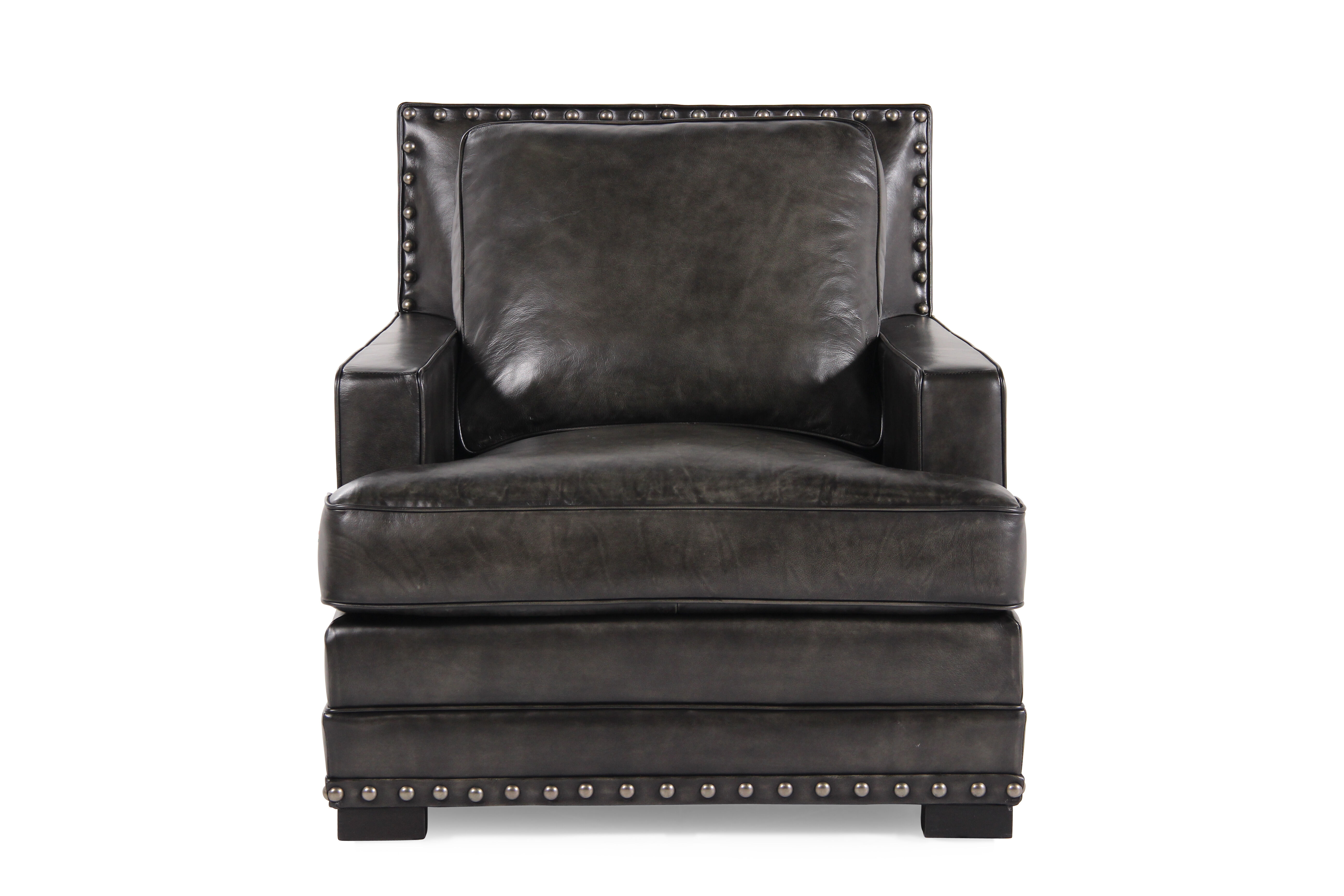 Ranch House Leather 35u0026quot; Chair In Graphite