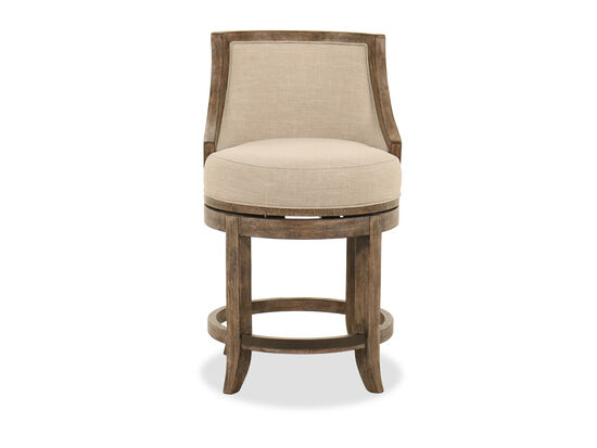 "38"" Transitional Swivel Counter Stool in Beige"
