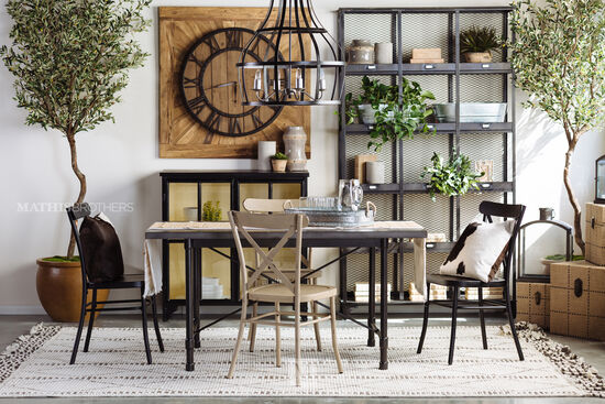 "Casual 60"" Dining Table in Gray"