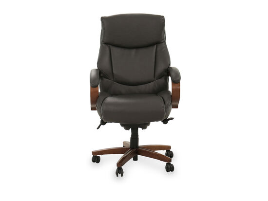 Casual Leather Executive Chair in Gray
