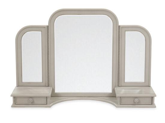 Youth Tri-View Vanity Mirror in Gossamer Gray