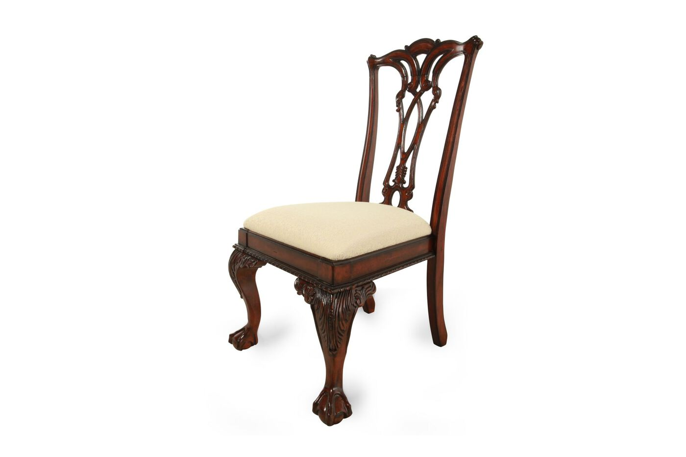 Engraved Traditional Desk Chair In Cherry Nbsp