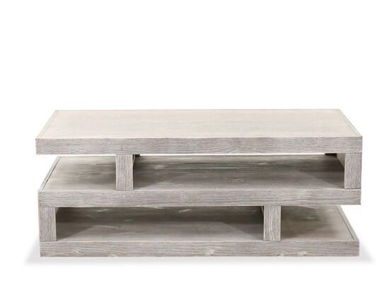 Transitional Cocktail Table in Limestone