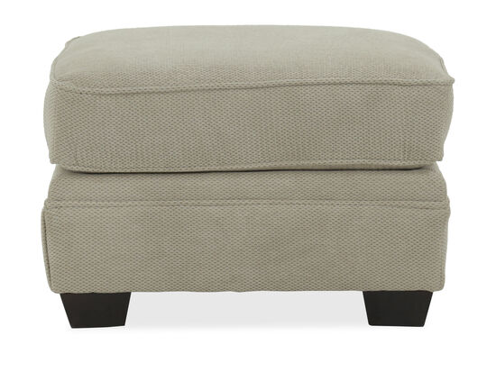 """Textured Casual 28"""" Ottoman in Beige"""