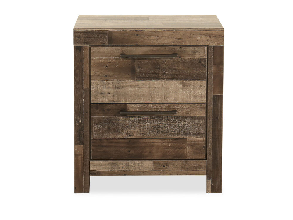 """24.5"""" Two-Drawer Nightstand in Gray"""