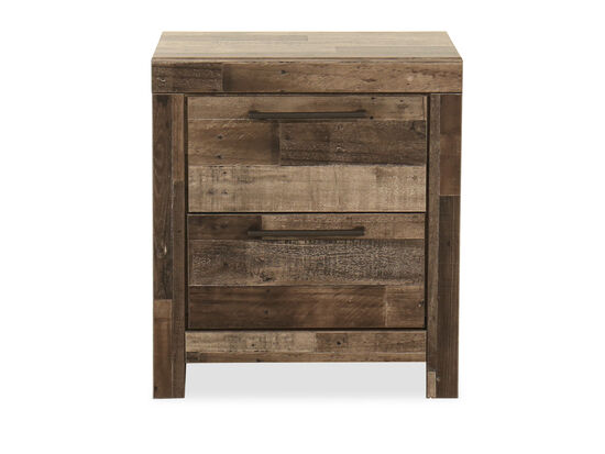 "24.5"" Two-Drawer Nightstand in Gray"