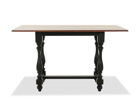 "Traditional 62"" Dining Table in Brown"